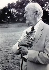 Vladimir Nabokov with kitten