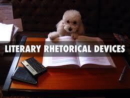 Dog with rhetorical device