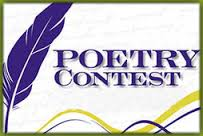 Poetry contest winners with quill