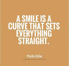 A smile is a curve but sets all straight