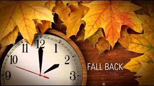 Fall back with autumn leaves