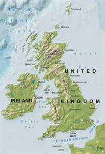 Britain relief map