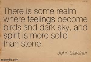 John Gardner realm where spirit more solid