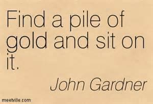john gardner sit on gold