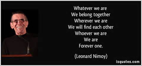nimoy we are always one