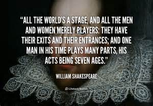 Shakespeare world is a stage