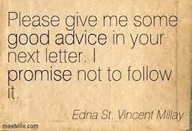 Edna St. VM advice quote