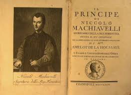 Niccolo Machiavelli image inside a book