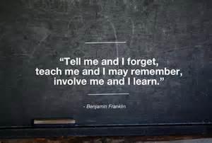 Teachers involve students