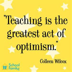 Teachers optimism