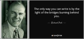 richard Peck writing by lights of bridges