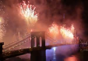 fireworks with bridge