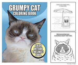 coloring book grumpy cat